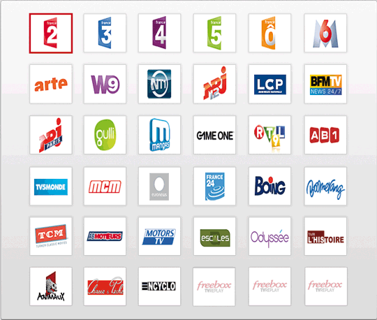 offre VOD Freebox: FHV, Canal Play, MY TF1 Vod, Frissons Extremes, I ...